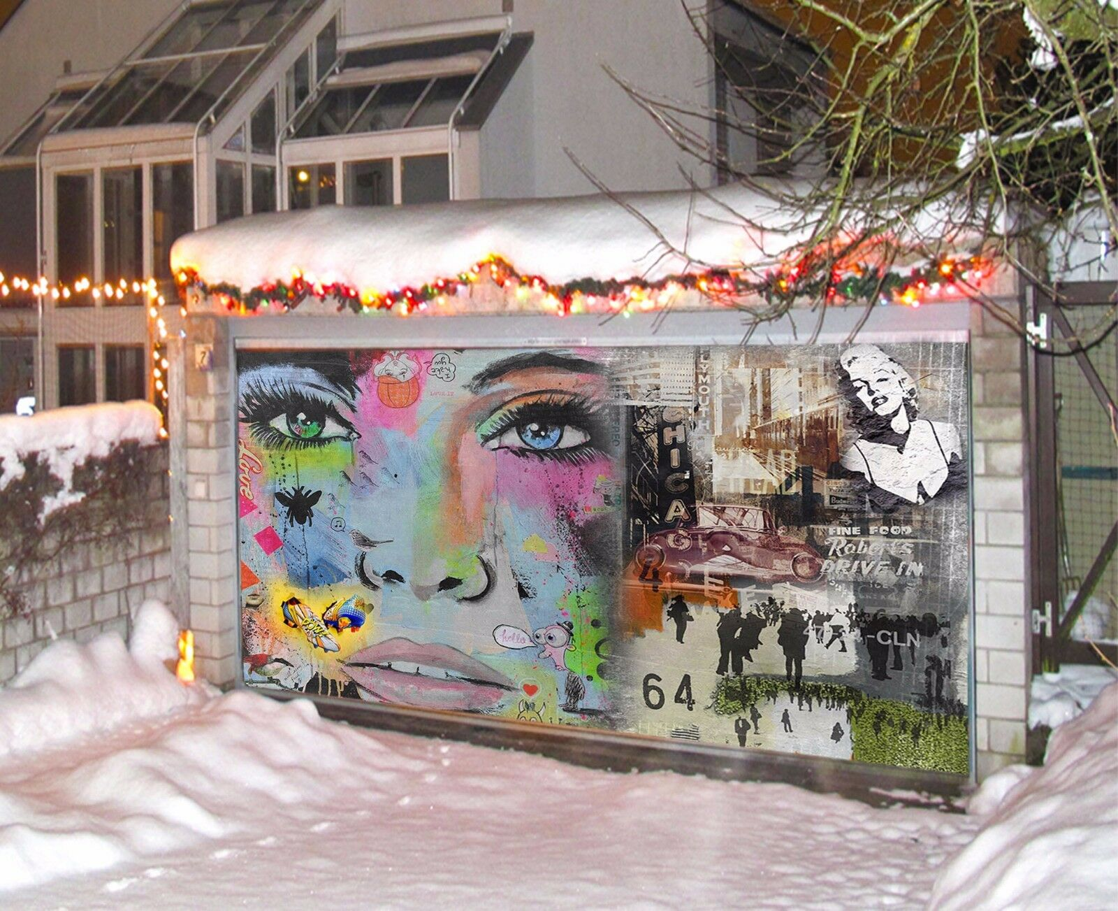 3D Beauty 8673 Garage Door Murals Wall Print Decal Wall AJ WALLPAPER UK Carly