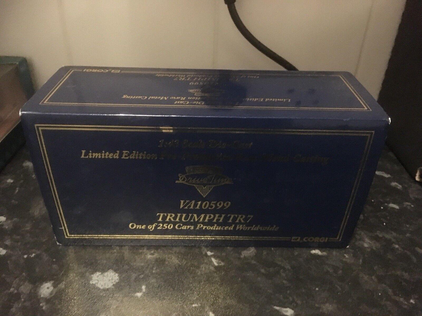 Vanguards RAW METAL TRIUMPH TR7 pré production LTD ED 1 43 En parfait état, dans sa boîte VA10599 250pcs