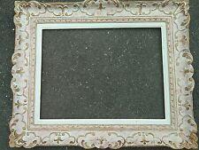cadre montparnasse bois patiné sculpté frame feuillure 61 cm x 46 cm format 12P