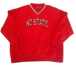 Pro-Player-NC-State-Wolfpack-Mens-Pullover-Lined-Winbreaker-Jacket-Red-XL-NCAA