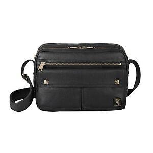 Image Is Loading Shoulder Bag Black Canvas Pu Coating Mori 11285
