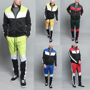 Tri Color Blocked Track Pants For Men
