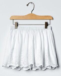 96fa41e38a3e NWT $30 Kids Girl White Embroidered Eyelet Skirt Scalloped Hem ...