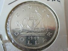 1949 Silver Canadian Dollar George VI Coin