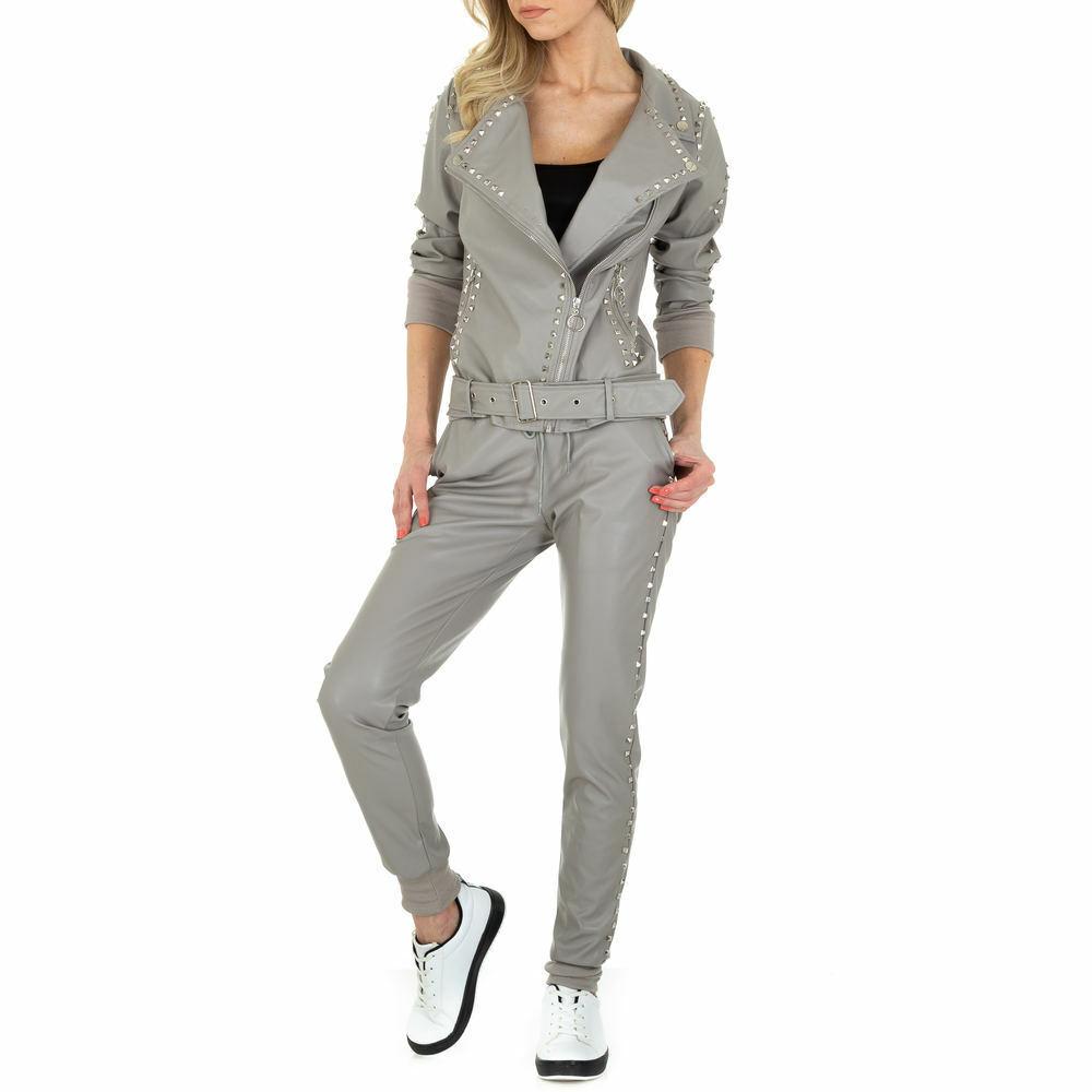 Damen Stretch Nieten Reissverschluss Anzug 2524 Ital-design