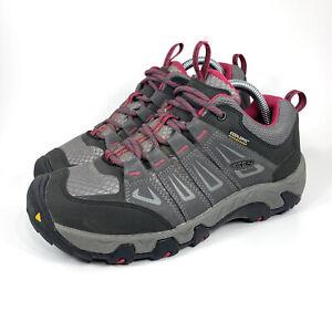 Keen Oakridge Waterproof Hiking Trail Shoe Size 9 Womens Magnet Rose Low...