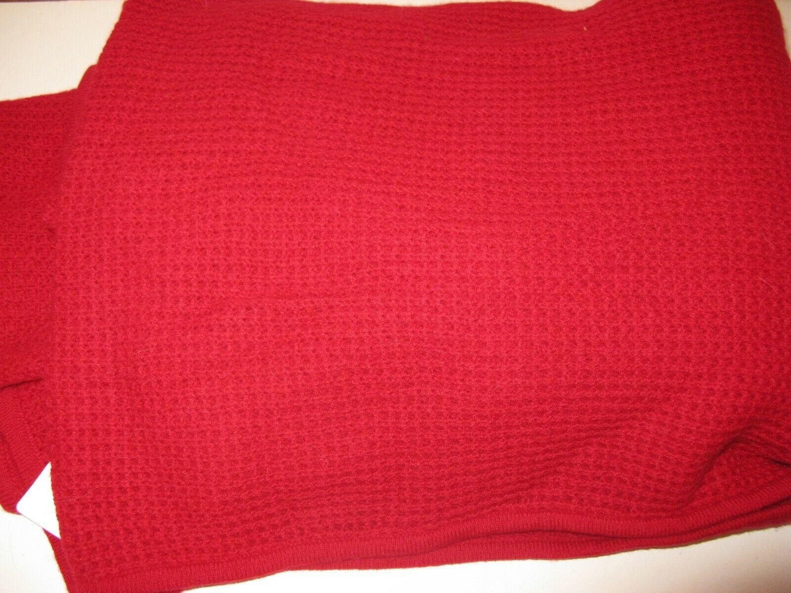 Ralph Lauren Cashmere Pique Throw Blanket RC Red  430