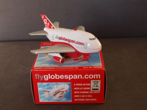 Premier Portfolio Globespan Fun Plane with Sound /& Lights New /& Boxed