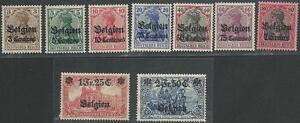 Deutsche-Besetzungsausgaben-aus-1914-18-postfrisch-MiNr-1-9
