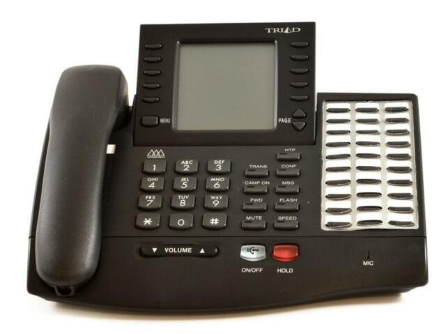 Fully Refurbished Vodavi Triad TR-9016-71 Large Display Speaker Phone (Charcoal)