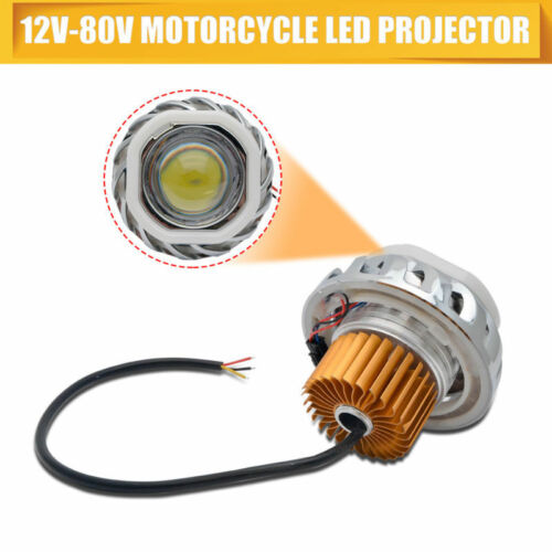 LED 12V-80V Scheinwerfer für Motorrad Engel Augen Weiß Teufel Augenlicht