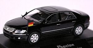Vw Phaeton Chancellor Limousine 2002-07 Noir 1:87 Modèle de publicité Wiking