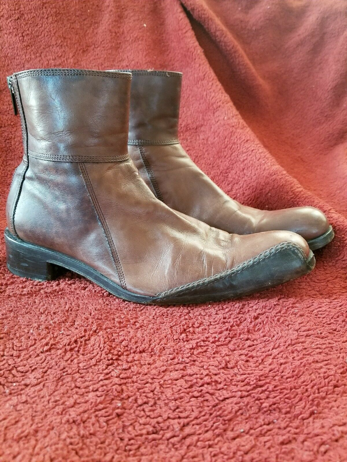 Rare Sebastiano Migliore 42 1/2 men's Italian Italian men's leather boots dd0da0