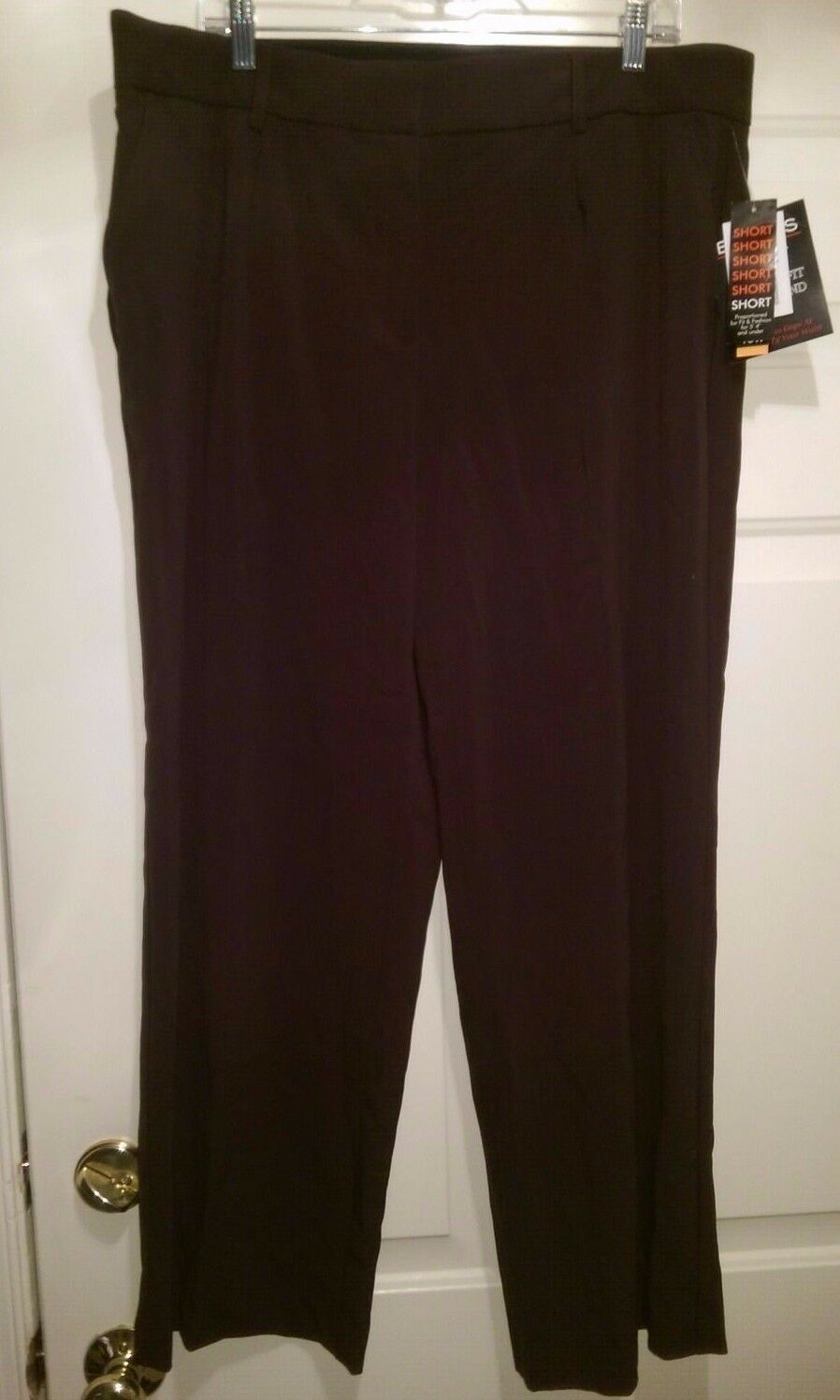 Briggs New York NWT Womens Plus Petite Brown Dress Pants Size 16WS