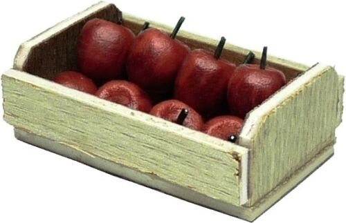 12 Red Apples 1:12 Scale Dollhouse Miniature Crate