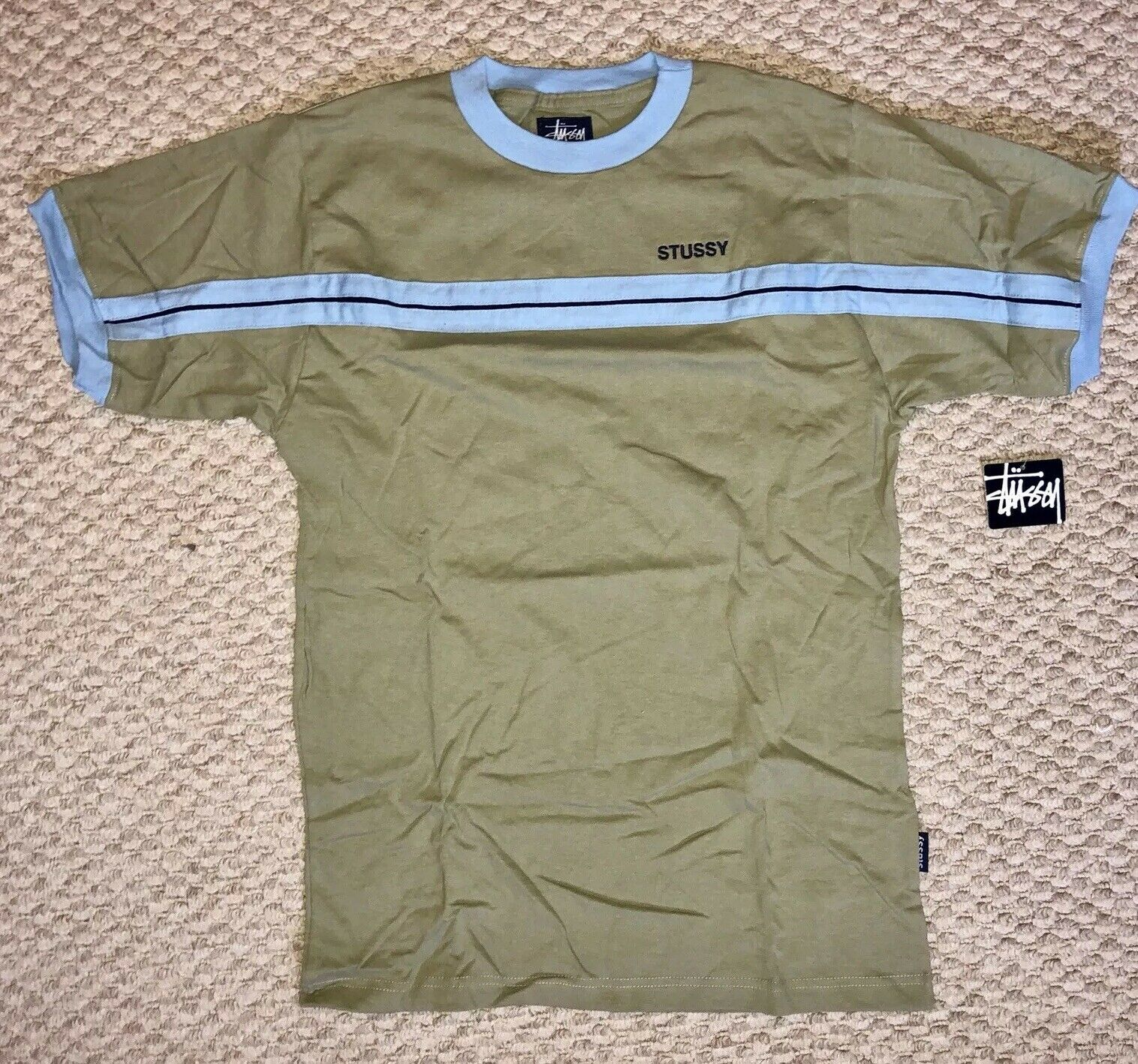 Stussy Vintage  90's T Shirt Adult Small Retro Vtg new With Tags Made In USA