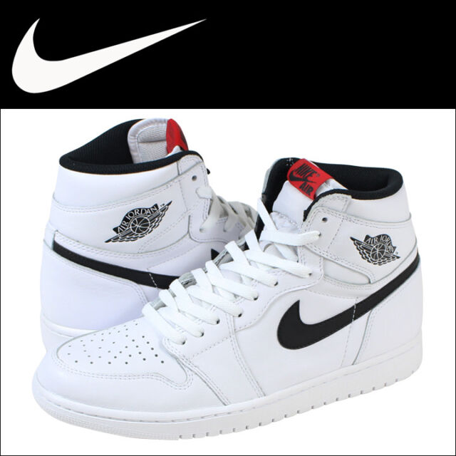 newest collection e844b 7c868 Nike Air Jordan 1 Retro High OG Ying Yang White Black Red 555088 102 Men s  sz