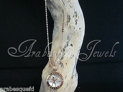 MEDIUM GENUINE MI STERLINA MILANO NECKLACE/PENDANT FAIRY/PEARL COIN/MONEDA. AJMM