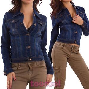 La imagen se está cargando chaqueta-pantalones-de-mezclilla-mujer-corto- ajustado-slim- 6cb7dd7f070f