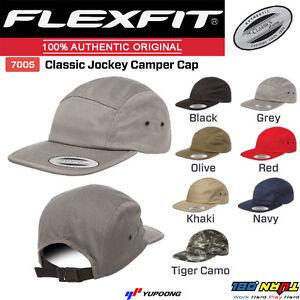 2d20d51bb1bd3 FLEXFIT CLASSIC JOCKEY CAMPER HAT Blank Cap Clip Closure Street ...