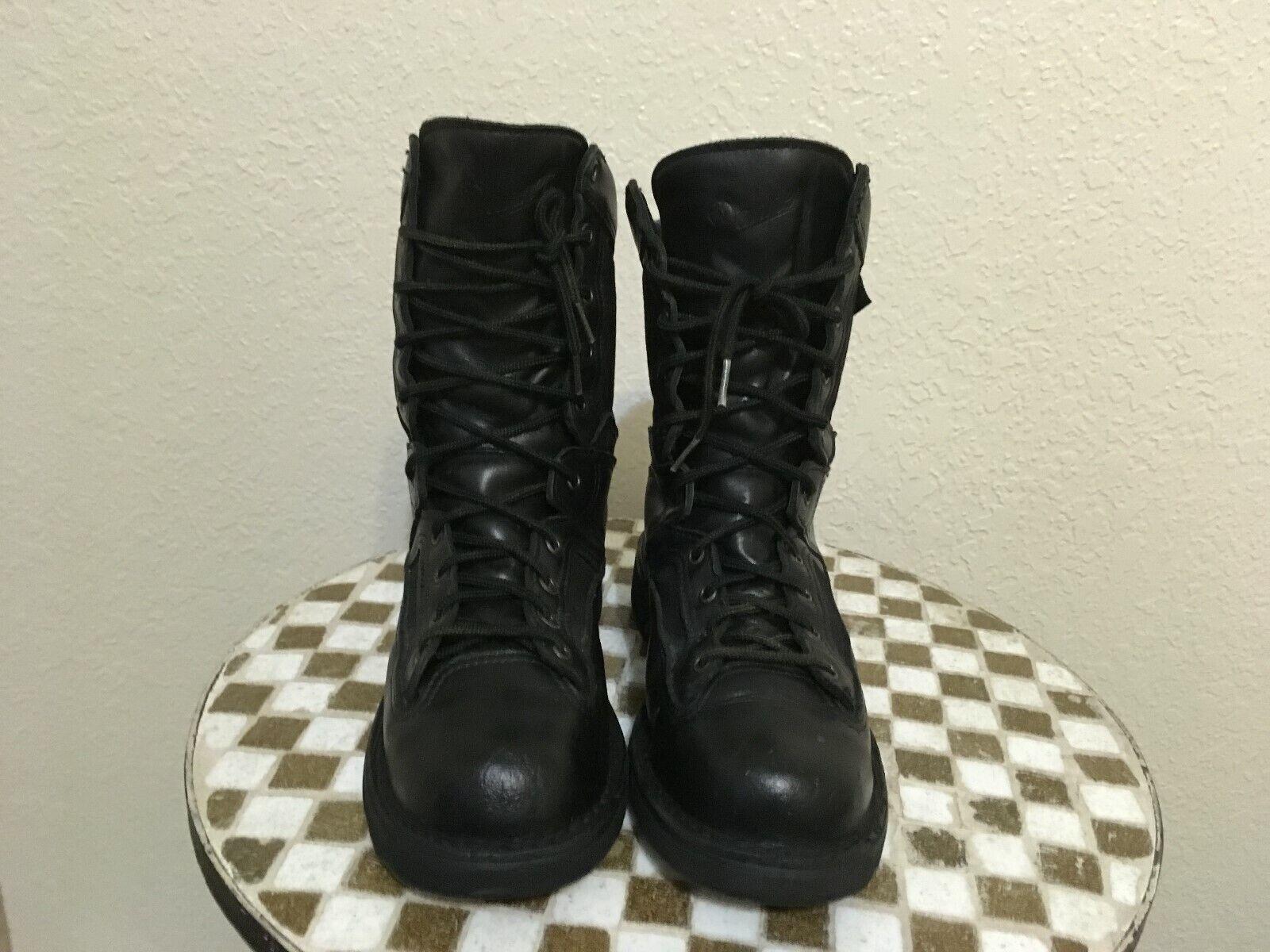 EE. UU. Negro Cuero Elite Acadia Danner Militar botas acordonadas Taladro 8.5 D