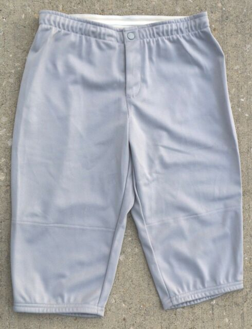 Womens sz M NEW Nike Team Fit Dry Fast Pitch Softball Solid Grey Pants 4528a511ae