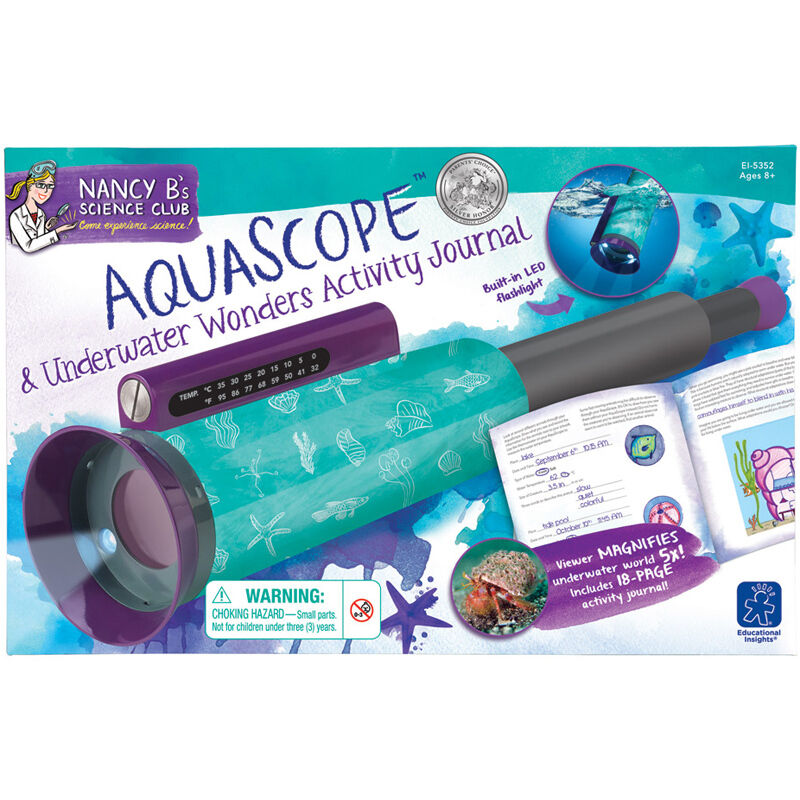 Educational Insights Nancy B's Science Club Aquascope &  Activity Journal NEW