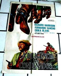 Details about Stagecoach of the Condemned 1970 ITALY WESTERN POSTER  FERNANDO SANCHO HARRISON