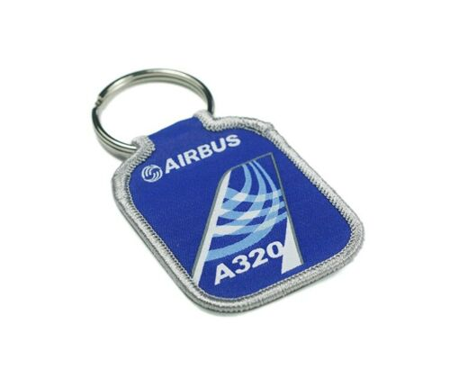 Airbus A320 Embroidery Key-Ring
