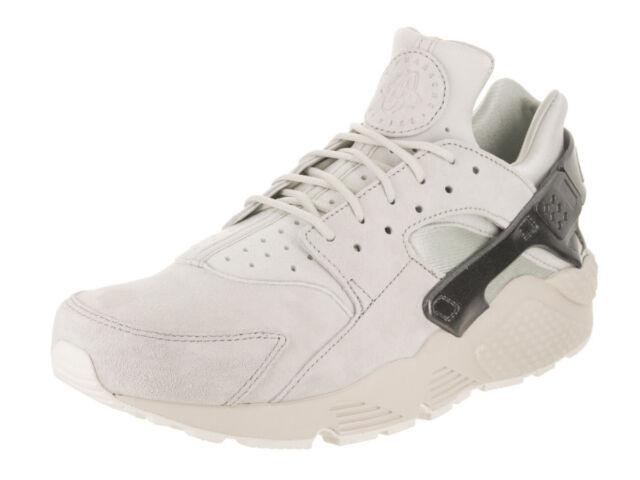 14ac6343cea Nike Air Huarache Run Premium Men s Shoes Light Bone Metallic Grey 704830  013