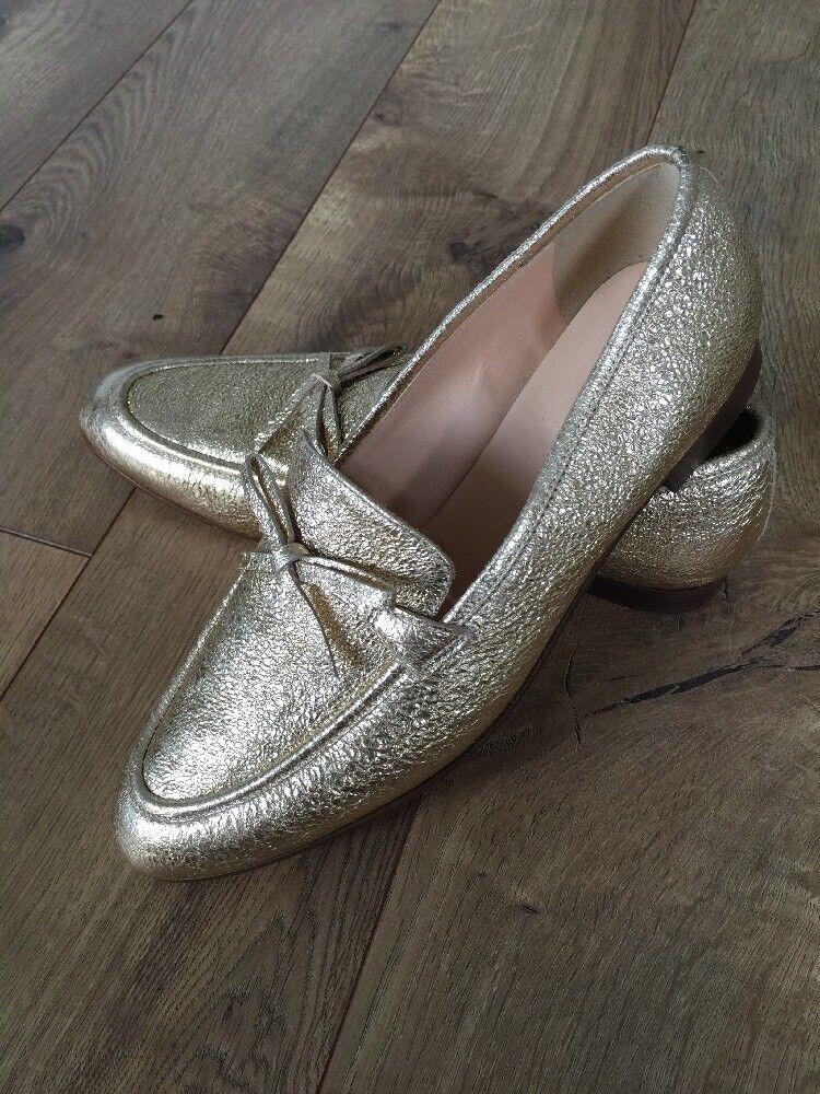 nuova esclusiva di fascia alta New J.crew Academy loafers In Metallic oro Leather Dimensione 8.5 8.5 8.5 H1872  all'ingrosso a buon mercato