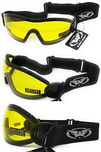 Global-Vision-Flare-Yellow-Tinted-Wraparound-Shatterproof-UV400-Goggles-amp-Pouch