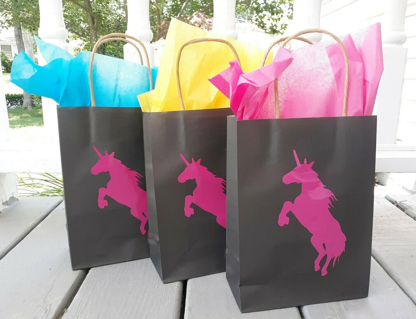 12 FILLED UNICORN Party Favor Goody Bags Loot Lot
