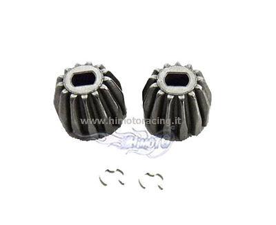 31039 Coppia Pignoni Differenziale + Clip Modelli 1/10 E10 Ricambi Rc Himoto 2pz