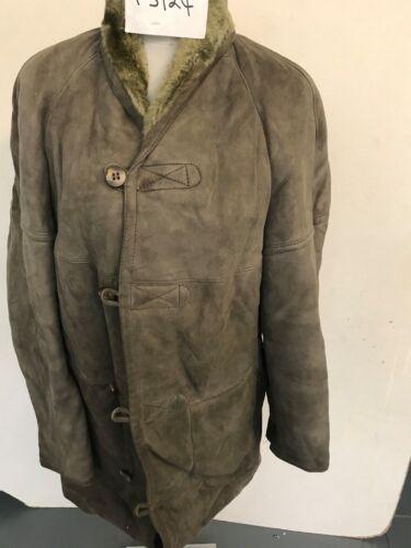 Invernale Ascella ascella Pecora Di Vera 55 Pelle 9cm Cappotto Vintage Grigio Z08wCXq7x