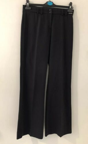 Ted Pleat Uk Size Black 1 Smart Side Detail Trousers Baker 8 Work wZgqxAw7O