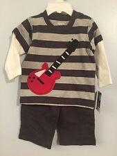 New Boys 6mos 2pc Guitar Set: 2pc Look Guitar Shirt & Pants by Carter's #i