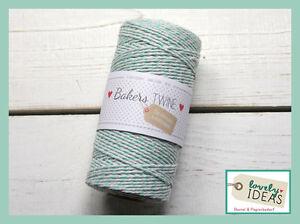 (0.09 €/m) Baker's Twine Turquoise/blanc 90 M Rôle Bakers Cordon Bastelschnur-afficher Le Titre D'origine CoûT ModéRé