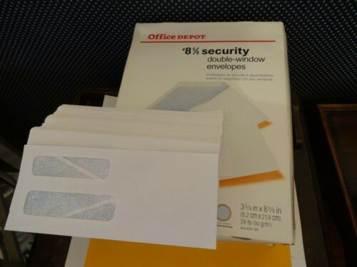 RETIRING #8-5//8 Double Window Security Envelopes ~ Qty 70 Selling Office Stuff