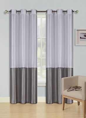 """1 PANEL GOLD GOLD LINED THERMAL BLACKOUT ANTIQUE GROMMET WINDOW CURTAIN K72 63/"""""""