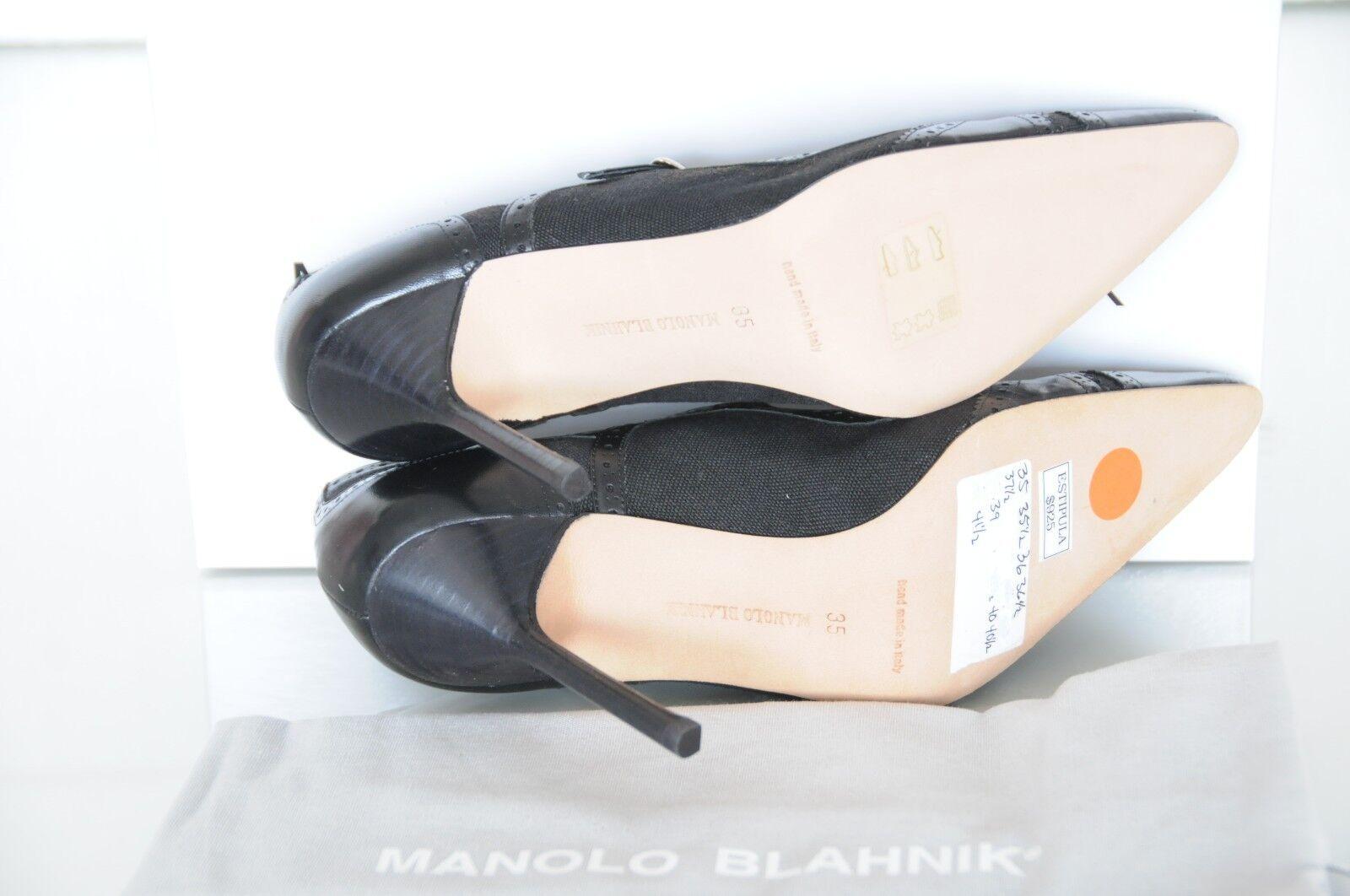 Neu Manolo Blahnik Bb Estipula Schwarz Mary Jane Pumps Pumps Pumps Schuhe 36.5 40.5 6 10 19b47d