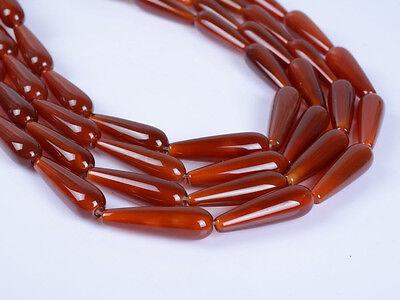 "0068 28mm Red agate teardrop loose beads 15.5"""