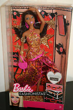 RARE NRFB BARBIE BLACK FASHIONISTAS EVENING GOWN TIGER NRFB 2012 SUPERBE