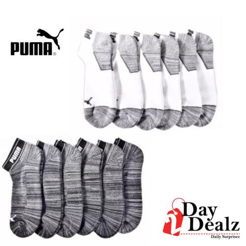 PUMA MENS 6 PACK HALF TERRY CUSHIONED QUARTER CREW ATHLETIC SOCKS CHOOSE COLOR