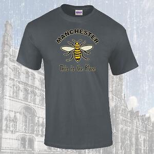 Manchester-Travailleur-Abeille-This-Is-The-Place-T-Shirt-Choix-de-Couleurs