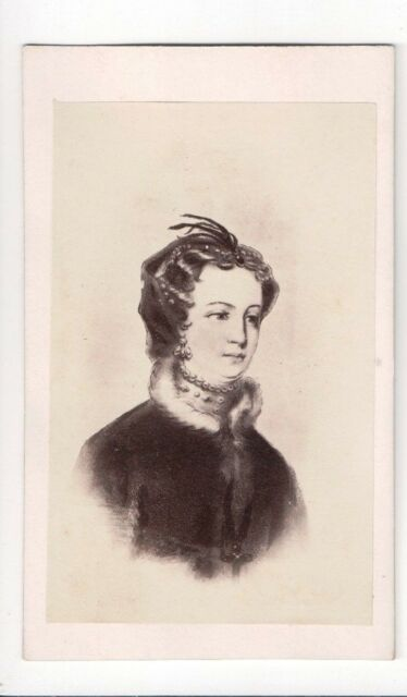 Vintage CDV Mary Stuart Queen of Scots Queen of France Peter Stewart Photo