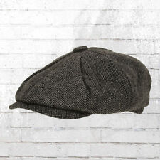 Schiebermütze Ballonmütze Vintage Newsboy Cap Heritage Vintage Mütze braun