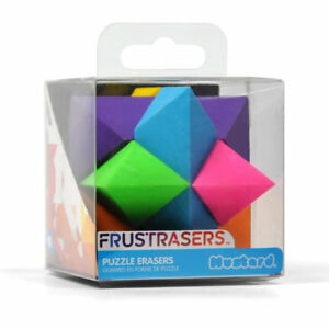 Rubber M16024A Mustard Frustrasers Cosmo Novelty Puzzle Eraser