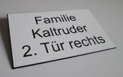 Türschild Kunststoff mit Gravur Briefkastenschild Firmenschild Praxisschild