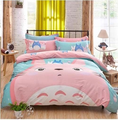Totgold Duvet Cover Bedding Quilt Set Bed Sheets Pillowcase XMAS Gift Handmade US